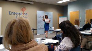 Speaking at Enterprise Center at Salem State University
