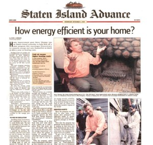 Steve Thomas home energy assessment in Staten Island