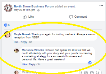 NSBF testimonial from FB2